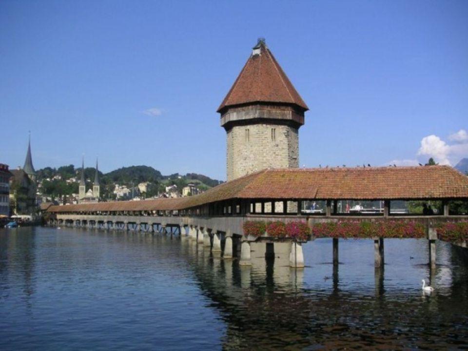 PONTE DE LA CHAPELLE Lucerne Suíça