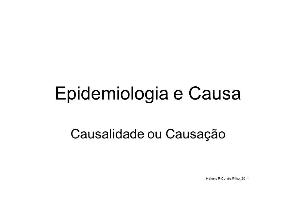 Epidemiologia e Causa Causalidade ou Causação Heleno R Corrêa Filho_2011