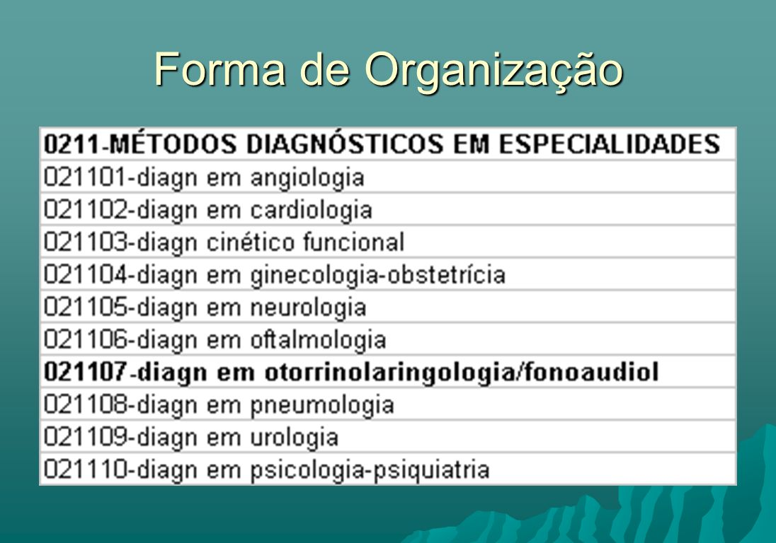 Forma de Organização