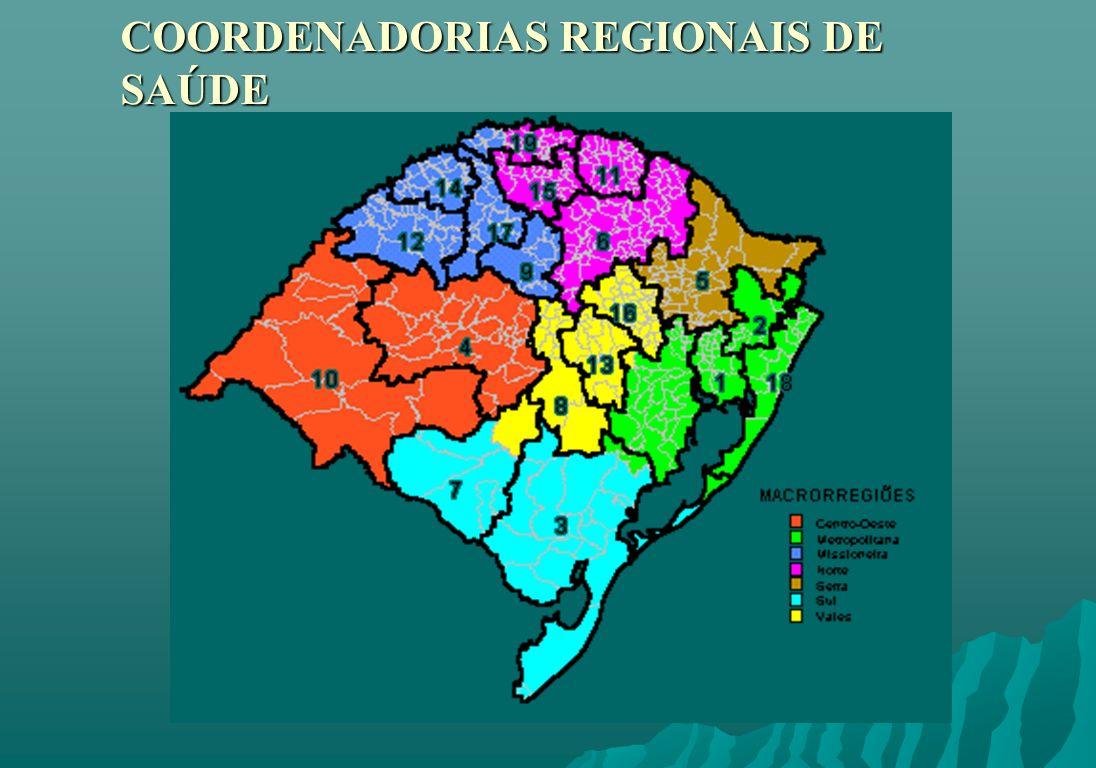 COORDENADORIAS REGIONAIS DE SAÚDE