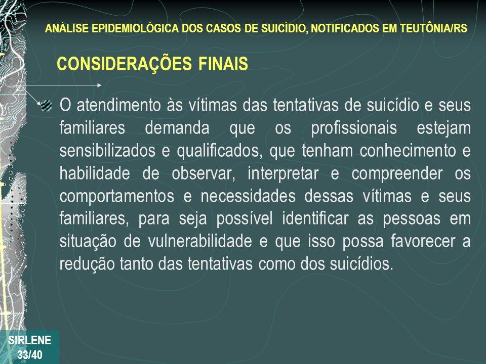 O atendimento às vítimas das tentativas de suicídio e seus familiares demanda que os profissionais estejam sensibilizados e qualificados, que tenham c