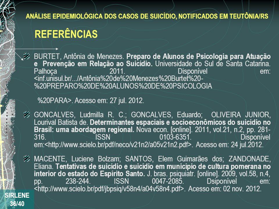 BURTET, Antônia de Menezes. Preparo de Alunos de Psicologia para Atuação e Prevenção em Relação ao Suicídio. Universidade do Sul de Santa Catarina. Pa