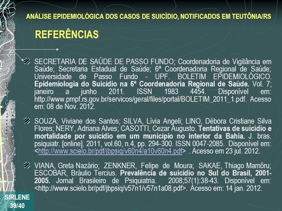 SECRETARIA DE SAÚDE DE PASSO FUNDO; Coordenadoria de Vigilância em Saúde; Secretaria Estadual de Saúde; 6ª Coordenadoria Regional de Saúde; Universida