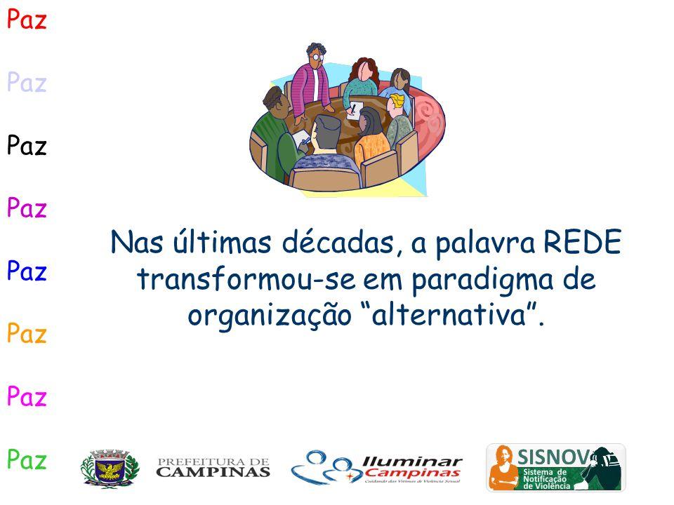 Nas últimas décadas, a palavra REDE transformou-se em paradigma de organização alternativa. Paz