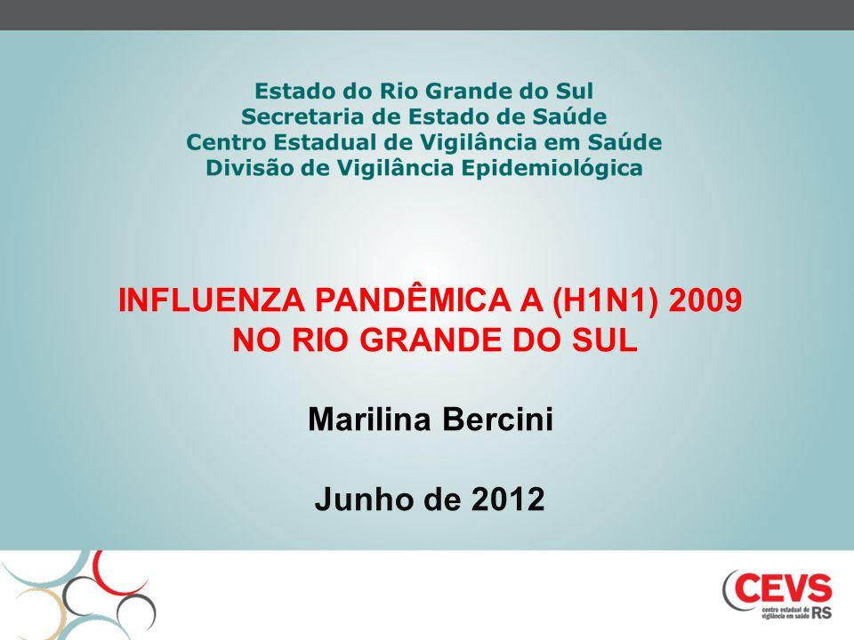 INFLUENZA PANDÊMICA A (H1N1) 2009 NO RIO GRANDE DO SUL Marilina Bercini Junho de 2012
