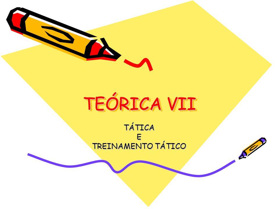 TEÓRICA VII TÁTICAE TREINAMENTO TÁTICO