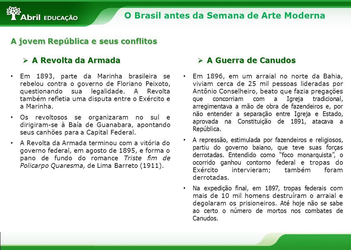 O Brasil antes da Semana de Arte Moderna Augusto dos Anjos utilizou imagens e palavras antipoéticas para nos transmitir sua visão de mundo.