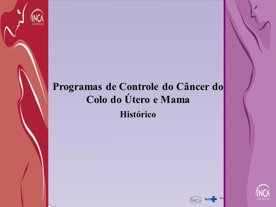 Programas de Controle do Câncer do Colo do Útero e Mama Histórico