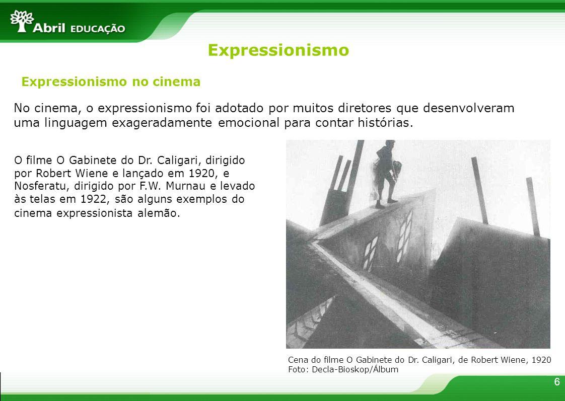 No cinema, o expressionismo foi adotado por muitos diretores que desenvolveram uma linguagem exageradamente emocional para contar histórias. Expressio