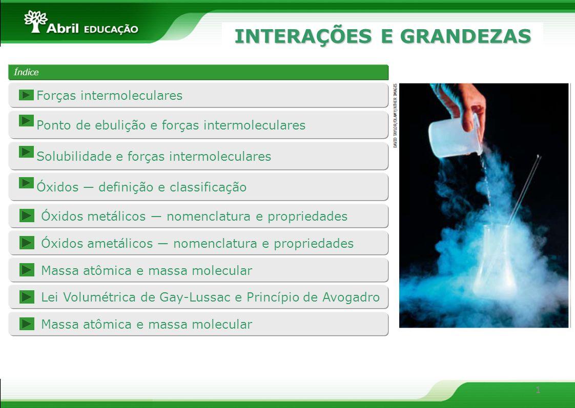 2 Forças intermoleculares As forças intermoleculares resultam das interações entre as moléculas de um material.