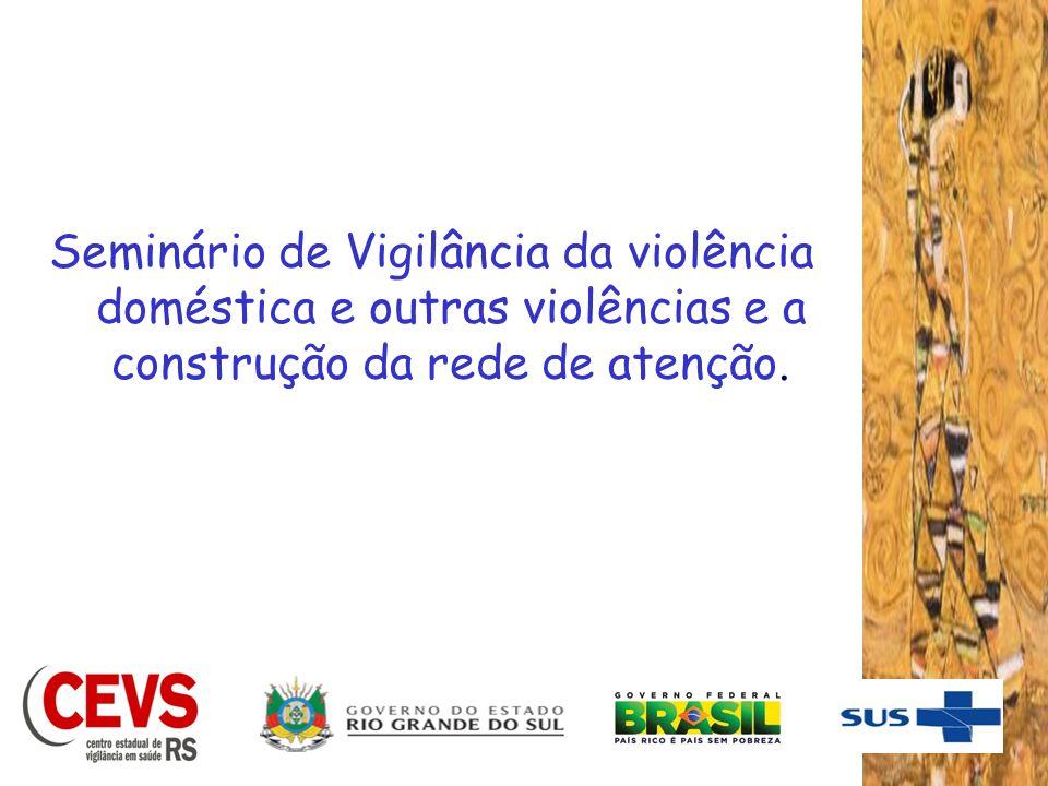 Seminário de Vigilância da violência doméstica e outras violências e a construção da rede de atenção.