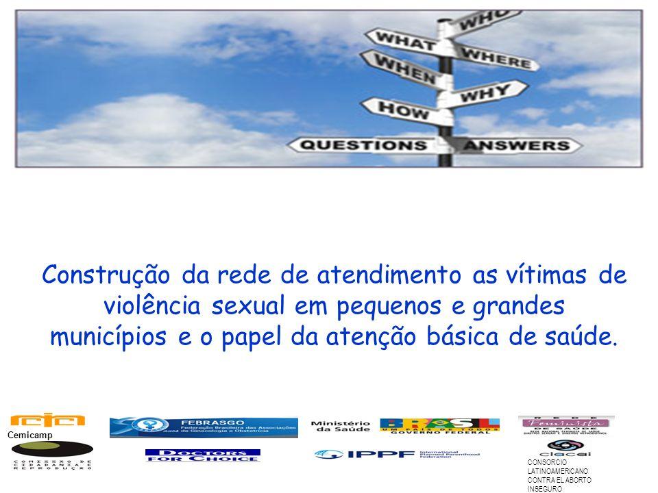 Construção da rede de atendimento as vítimas de violência sexual em pequenos e grandes municípios e o papel da atenção básica de saúde. CONSORCIO LATI