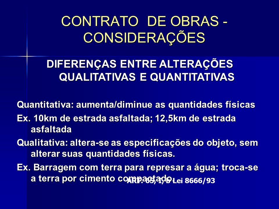 DIFERENÇAS ENTRE ALTERAÇÕES QUALITATIVAS E QUANTITATIVAS Quantitativa: aumenta/diminue as quantidades físicas Ex.