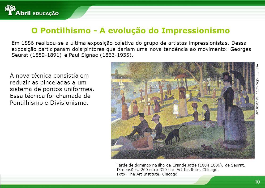 Em 1886 realizou-se a última exposição coletiva do grupo de artistas impressionistas. Dessa exposição participaram dois pintores que dariam uma nova t