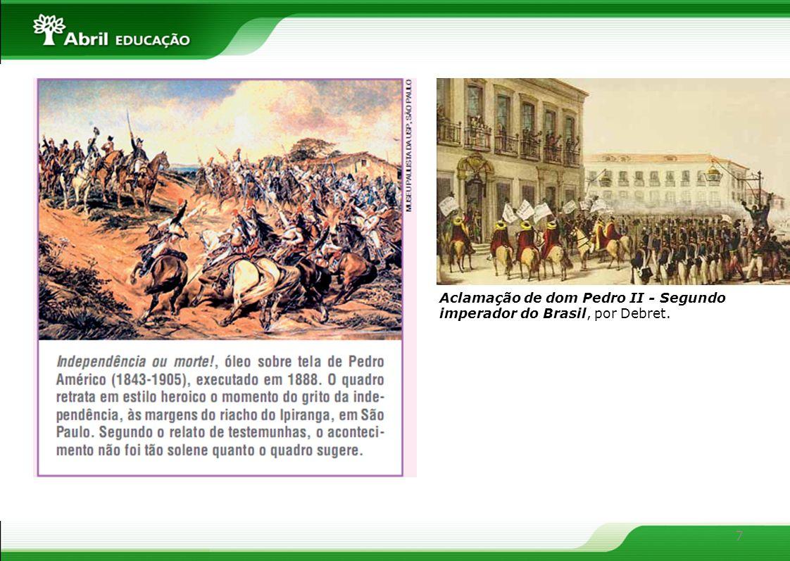 7 Aclamação de dom Pedro II - Segundo imperador do Brasil, por Debret.
