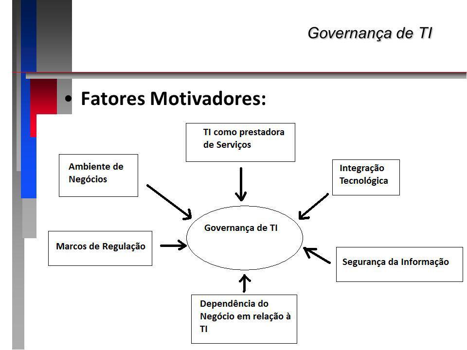 Governança de TI Governança de TI Fatores Motivadores: