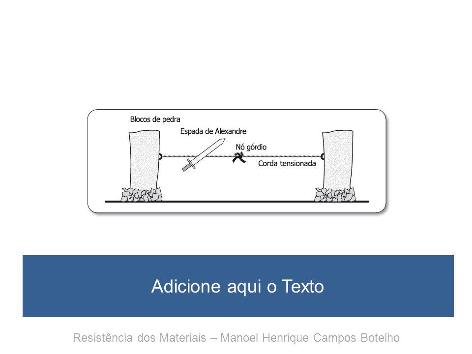 Resistência dos Materiais Para entender e gostar Anexo 3 Glossário de primeira ajuda Resistência dos Materiais – Manoel Henrique Campos Botelho