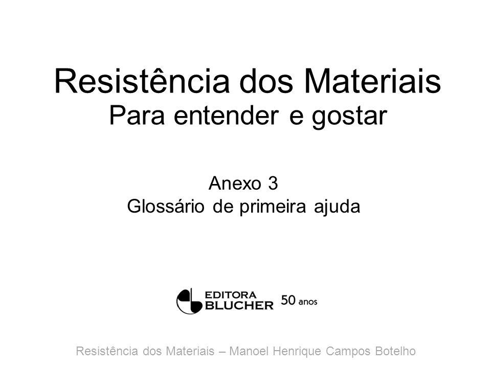 Resistência dos Materiais Para entender e gostar Anexo 4 Resumo histórico do uso de materiais e de estruturas Resistência dos Materiais – Manoel Henrique Campos Botelho