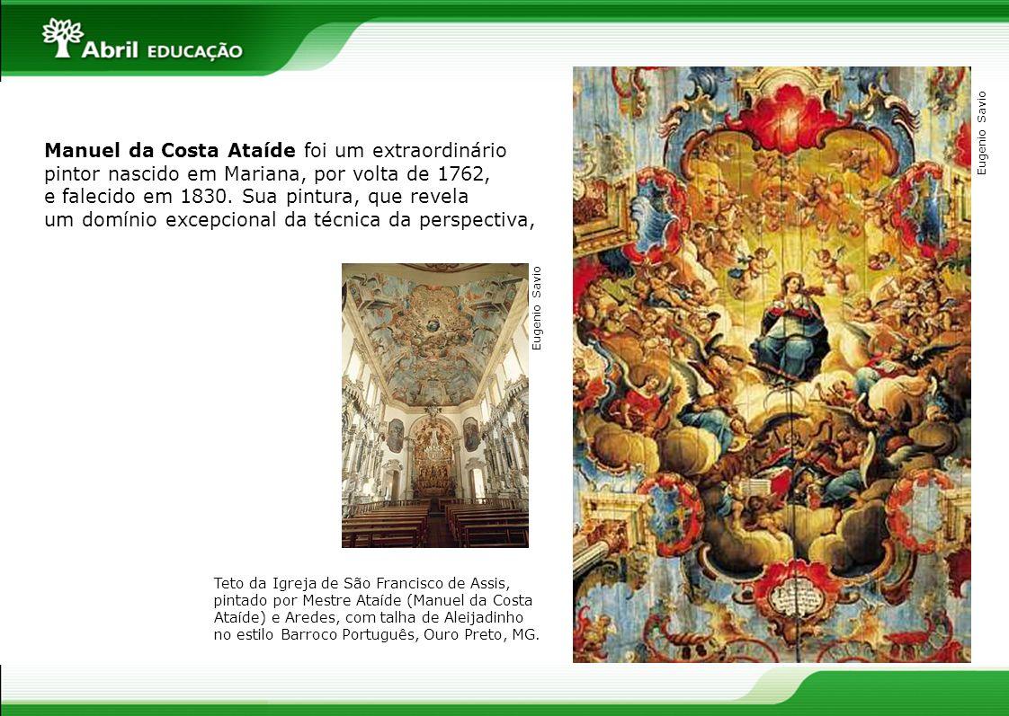 Teto da Igreja de São Francisco de Assis, pintado por Mestre Ataíde (Manuel da Costa Ataíde) e Aredes, com talha de Aleijadinho no estilo Barroco Port