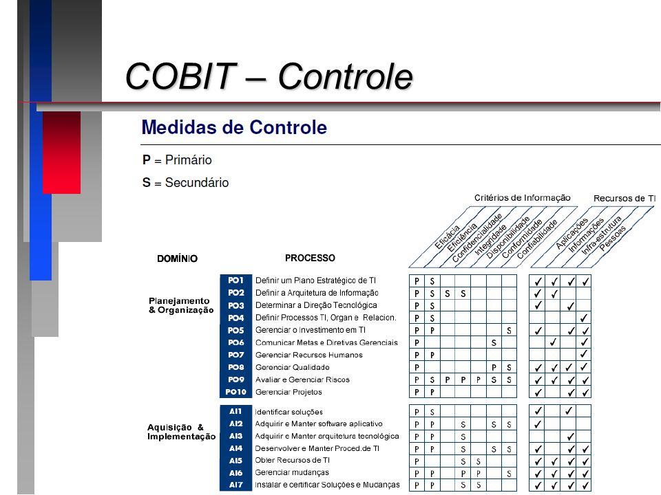 COBIT – Controle COBIT – Controle