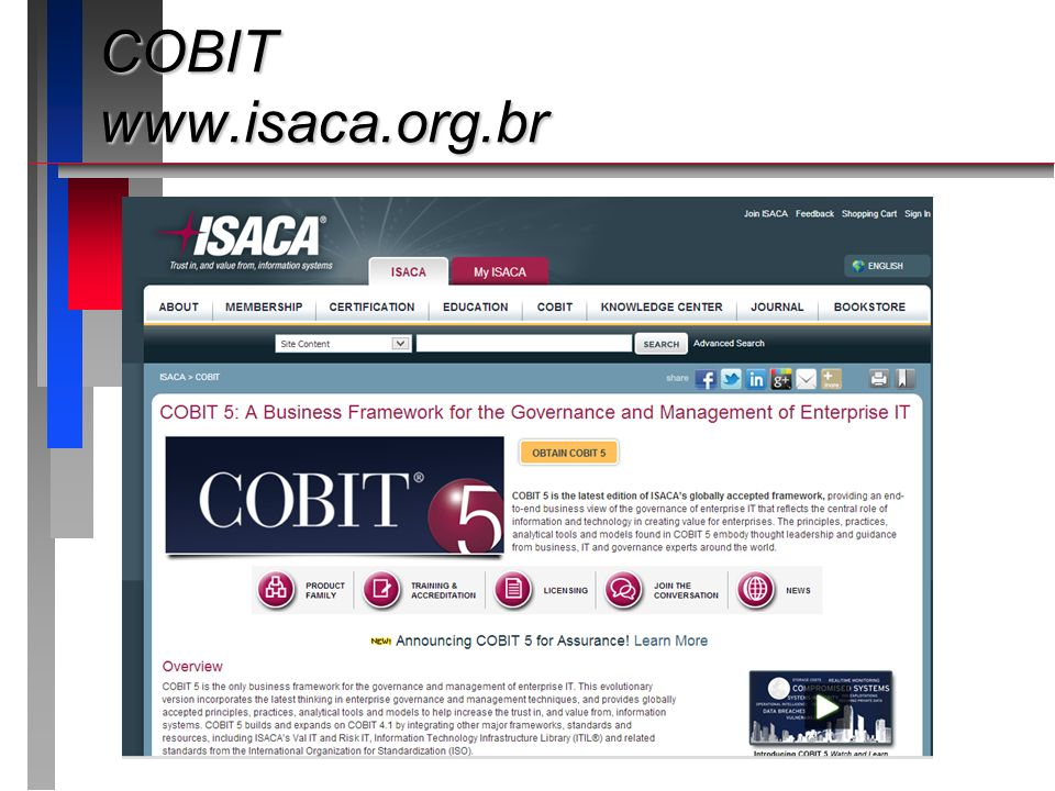 COBIT www.isaca.org.br
