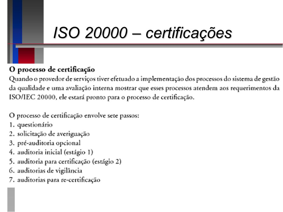 ISO 20000 – certificações ISO 20000 – certificações