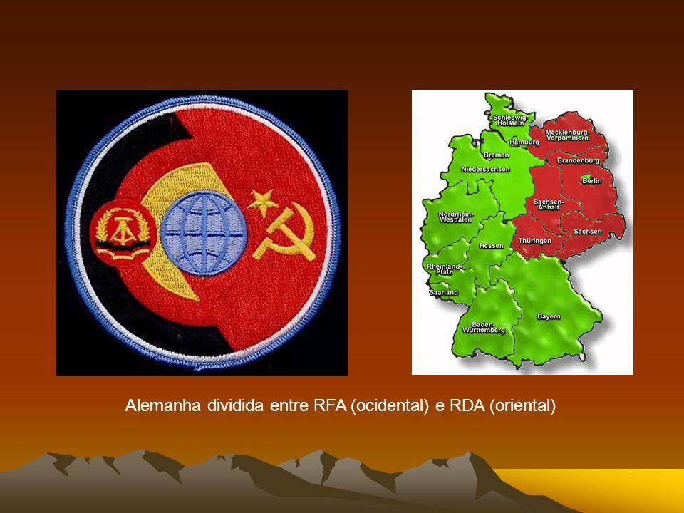 1949 | Cortina de Ferro Para concretizar esta separação, foi criada a Cortina de Ferro: era uma expressão usada no Ocidente para designar a fronteira que dividiu a Europa em duas áreas de distintas influências política e econômica, do final da Segunda Guerra Mundial até ao final da chamada Guerra Fria.