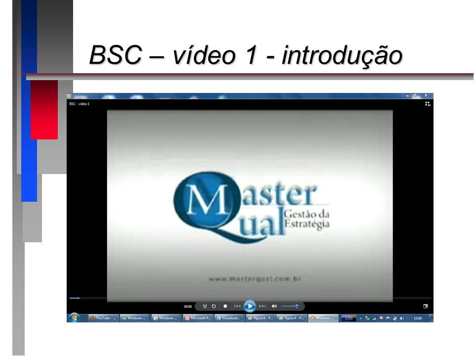 BSC – vídeo 1 - introdução BSC – vídeo 1 - introdução