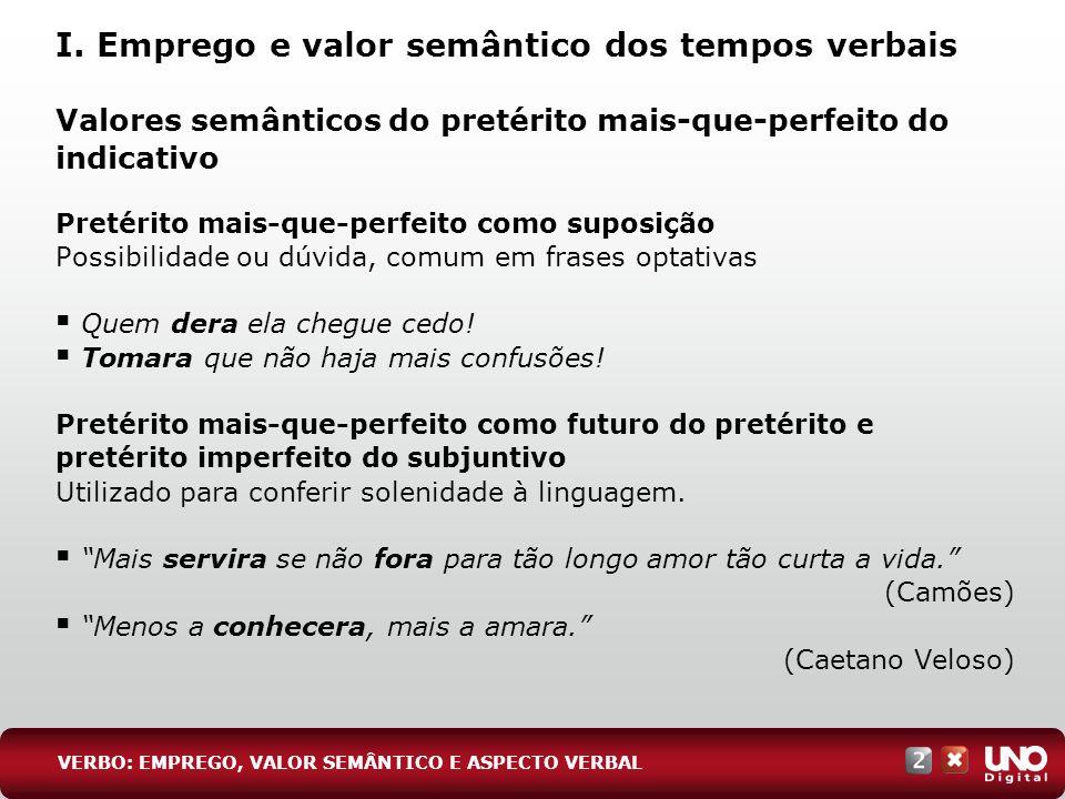 Valores semânticos do pretérito mais-que-perfeito do indicativo Pretérito mais-que-perfeito como suposição Possibilidade ou dúvida, comum em frases op