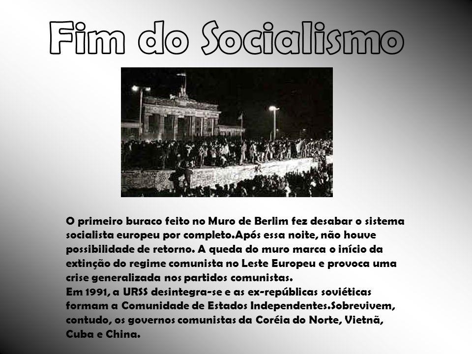 O primeiro buraco feito no Muro de Berlim fez desabar o sistema socialista europeu por completo.Após essa noite, não houve possibilidade de retorno. A