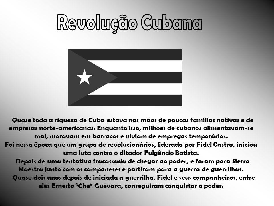 Quase toda a riqueza de Cuba estava nas mãos de poucas famílias nativas e de empresas norte-americanas. Enquanto isso, milhões de cubanos alimentavam-