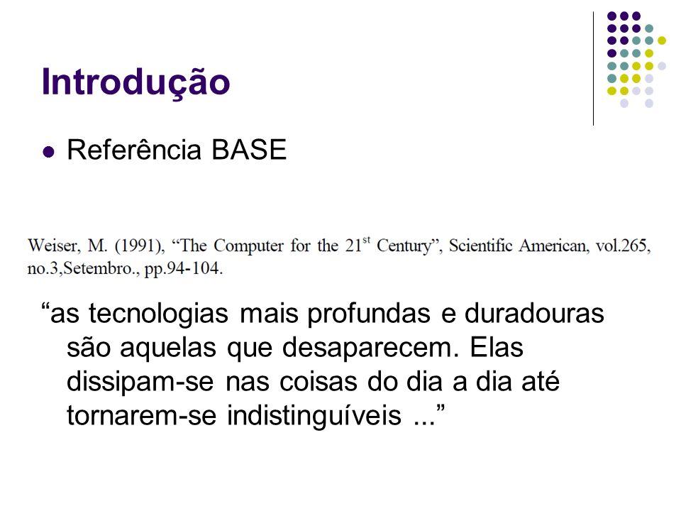 Introdução Referência BASE as tecnologias mais profundas e duradouras são aquelas que desaparecem.