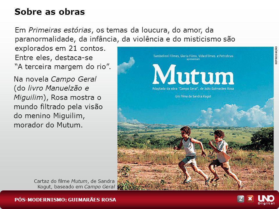 Em Grande sertão: veredas, Riobaldo, o narrador, ex-jagunço e agora fazendeiro, se dirige a um interlocutor letrado e culto que não toma a palavra nenhuma vez no romance.