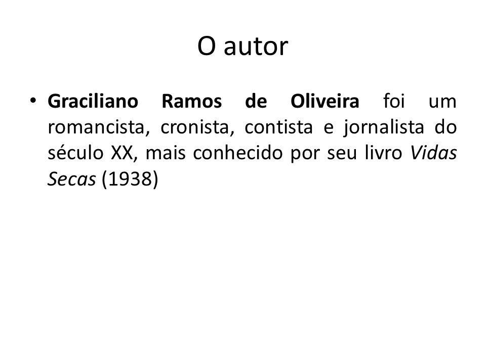 O autor Graciliano Ramos de Oliveira foi um romancista, cronista, contista e jornalista do século XX, mais conhecido por seu livro Vidas Secas (1938)