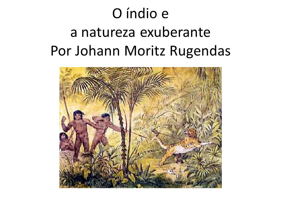O índio e a natureza exuberante Por Johann Moritz Rugendas