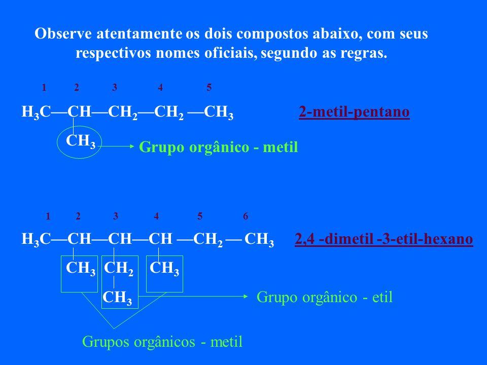 CH 3 1,2-dimetil-benzeno 4 1 2 3 11 1,3dimetil-benzeno 1,4-dimetil-benzeno Compostos aromáticos com mais de um grupo orgânico ligado ao anel aromático, obedecem as mesmas regras dos hidrocarbonetos ramificados, ou seja, a regra dos menores números (numerar os carbonos do ciclo, no sentido horário ou anti-horário, para dar aos grupos orgânicos os menores números possíveis.