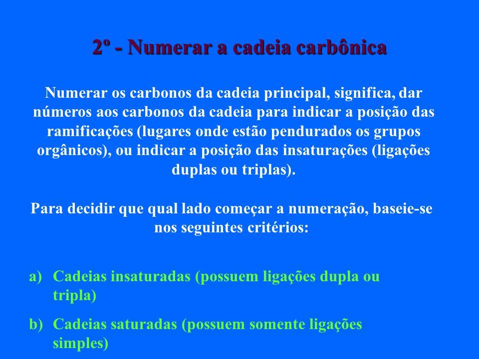 4 – As classes estudadas (alcanos, alcenos, alcinos, alcadienos, ciclanos, ciclenos e aromáticos, continuam a serem usadas mesmo em cadeias ramificadas .