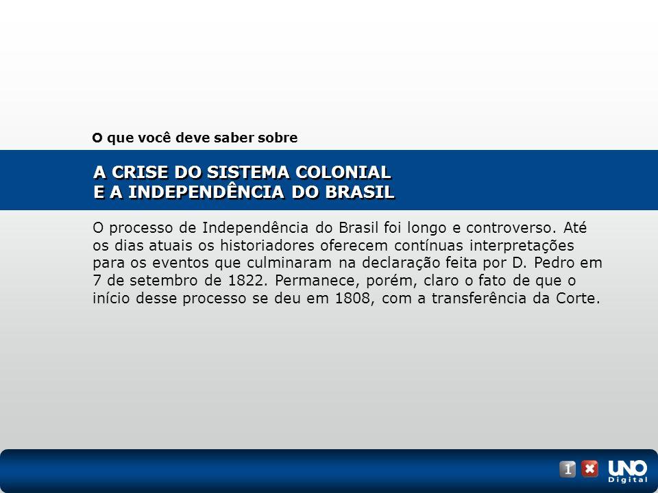 1808, vinda da Corte portuguesa para a colônia, que se tornou centro administrativo do Império português.