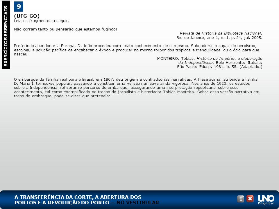 (UFG-GO) Leia os fragmentos a seguir. Não corram tanto ou pensarão que estamos fugindo! Revista de História da Biblioteca Nacional, Rio de Janeiro, an
