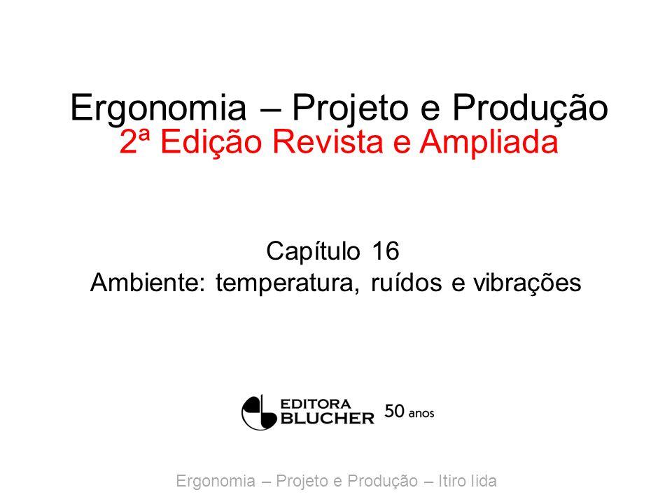 Ergonomia – Projeto e Produção – Itiro Iida Ergonomia – Projeto e Produção 2ª Edição Revista e Ampliada Capítulo 16 Ambiente: temperatura, ruídos e vi