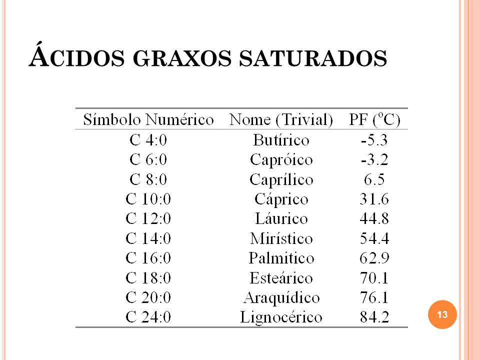 Á CIDOS GRAXOS SATURADOS 13