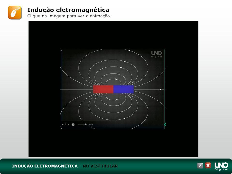 INDUÇÃO ELETROMAGNÉTICA – NO VESTIBULAR Indução eletromagnética Clique na imagem para ver a animação.