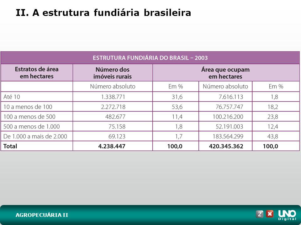 II. A estrutura fundiária brasileira AGROPECUÁRIA II