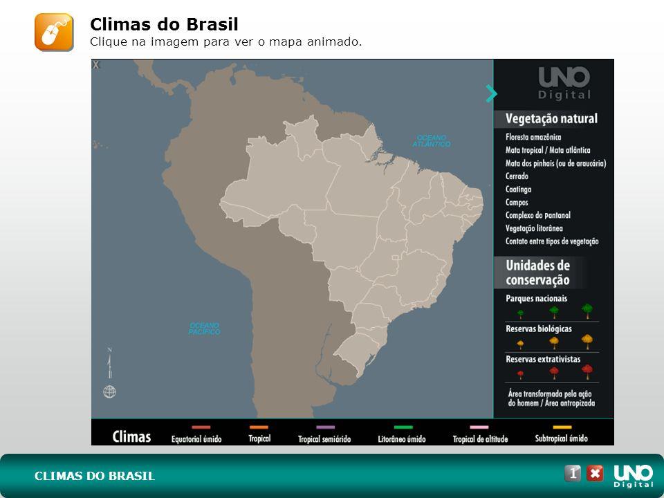 CLIMAS DO BRASIL Climas do Brasil Clique na imagem para ver o mapa animado.
