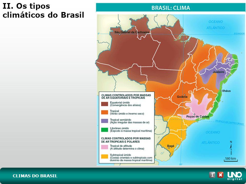 II. Os tipos climáticos do Brasil CLIMAS DO BRASIL