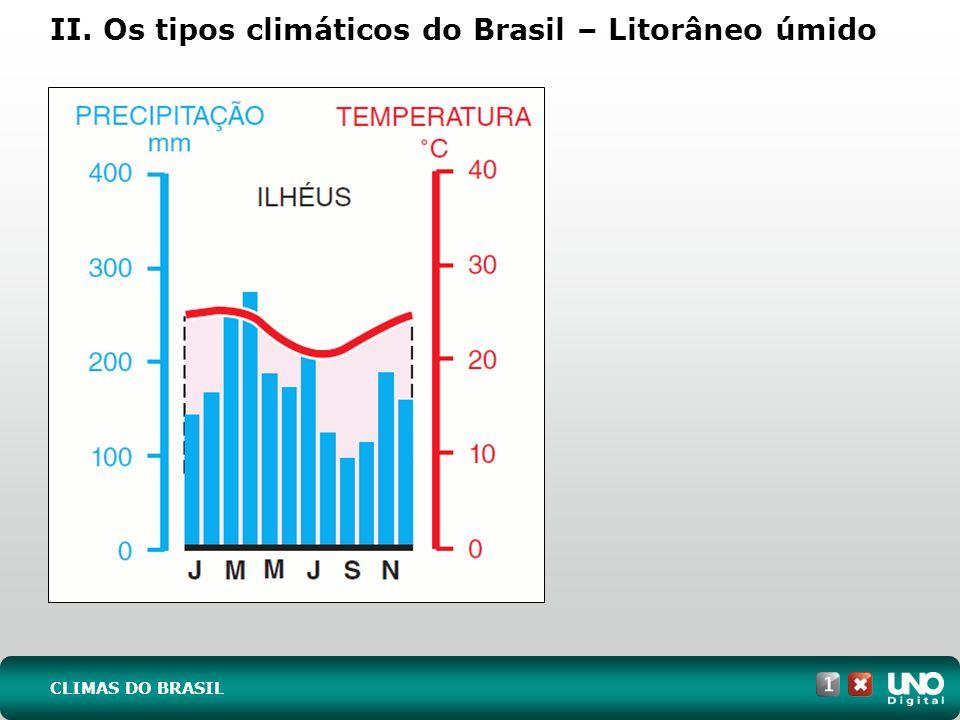 II. Os tipos climáticos do Brasil – Litorâneo úmido