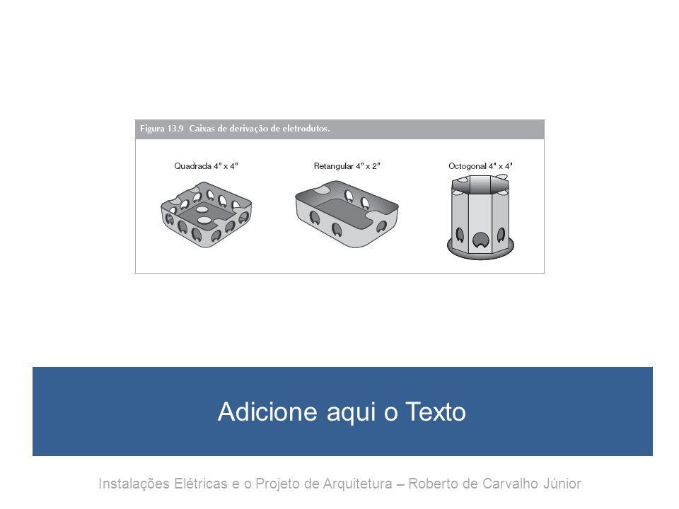 Adicione aqui o Texto Instalações Elétricas e o Projeto de Arquitetura – Roberto de Carvalho Júnior