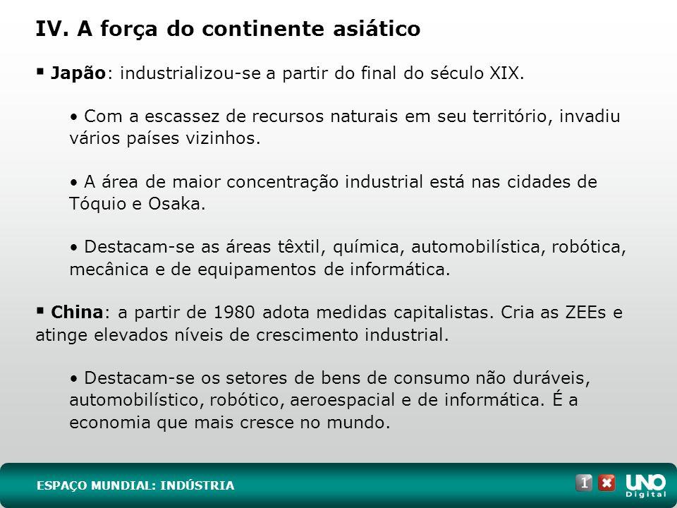 7 EXERC Í CIOS ESSENCIAIS RESPOSTA: E (Unirio-RJ) A instalação industrial em uma região depende dos fatores favoráveis, que podem ser considerados gerais ou específicos.