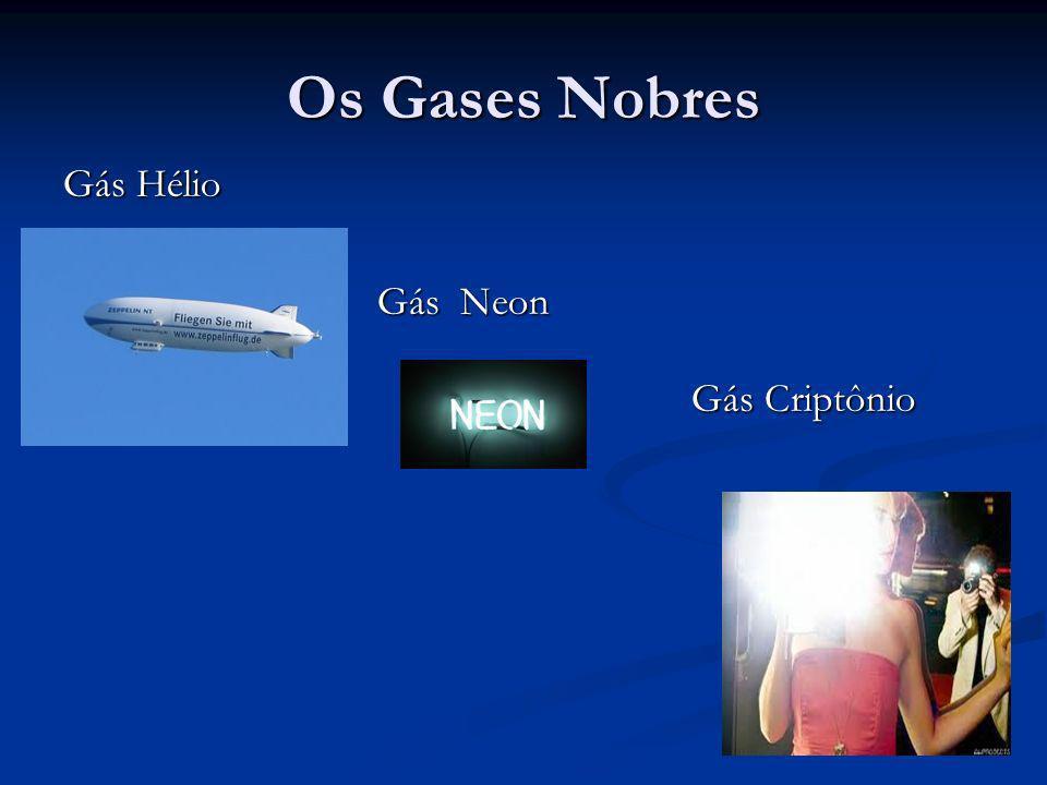 Os Gases Nobres Gás Hélio Gás Neon Gás Criptônio