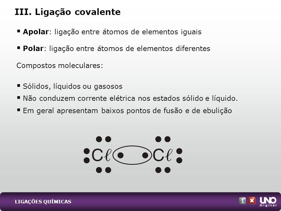 Tipos de ligação química e interatômica Clique na imagem abaixo para ver a animação.
